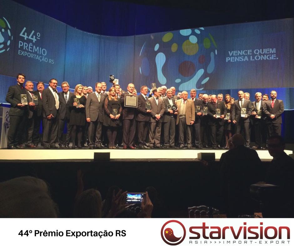 Vencedores da 44ª edição do prêmio Exportação RS comemoram